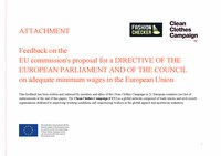 Formal feedback on the EU Commission's proposed directive as of December 2020