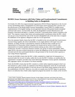 BGMEA Issues Statement with False Claims and Unsubstantiated Commitments to Building Safety in Bangladesh