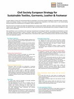 Executive Summary of the European Strategy for Sustainable Textile, Garments, Leather and Footwear