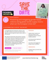 Invite to webinar on GBV as part of Fashion Checker