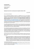 Joint letter to Commissioner Reynders