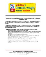 Guiding Principles for Asia Floor Wage Pilot Projects 2010