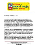 Statement on Minimum Wage Struggles 2010