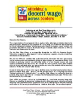 Final submission of Asia Floor Wage Alliance to the concluding Tribunal.