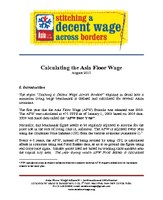 How is Asia Floor Wage calculated?