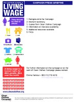 Press Kit Living Wage action week