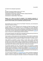 Joint letter on SCG and deforestation proposals