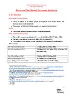 General Factsheet Garment Industry February 2015