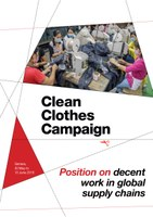 Position on decent work in global supply chains
