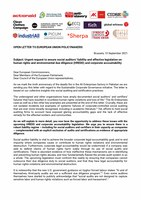 Open letter to EU policymakers on social audit failures