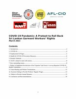 COVID-19 Pandemic: A Pretext to Roll Back Sri Lankan Garment Workers' Rights