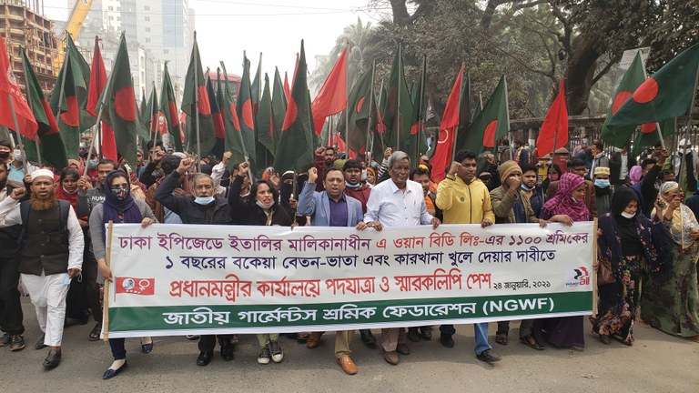 NGWF protest