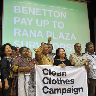 Benetton Rana Plaza action square