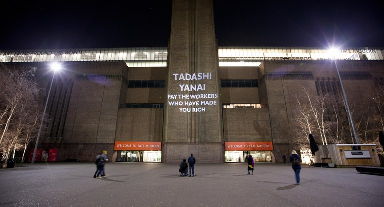 Projection on the Tate Modern in London
