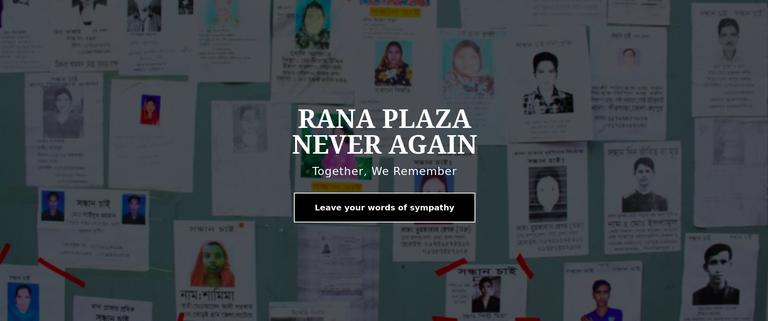 Rana Plaza never again website