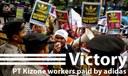 WE WON! adidas pays Kizone workers
