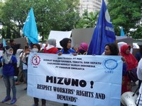 Mizuno denies support to unfairly dismissed Indonesian workers