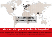 Demonstrations at Bangladeshi embassies demand respect for garment workersa rights