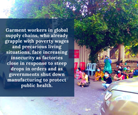 COVID-19 Demands in defense of Garment Workers in Global Supply Chains