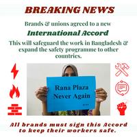 NGO signatories to Bangladesh Accord welcome new binding worker safety agreement