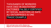 CSOs and labour unions call for the EU to confront systemic flaws of private social auditing and glaring accountability gaps