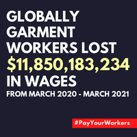 Workers owed $11.85 billion after fashion brands' inaction